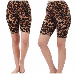 Zenana cheetah print bike shorts